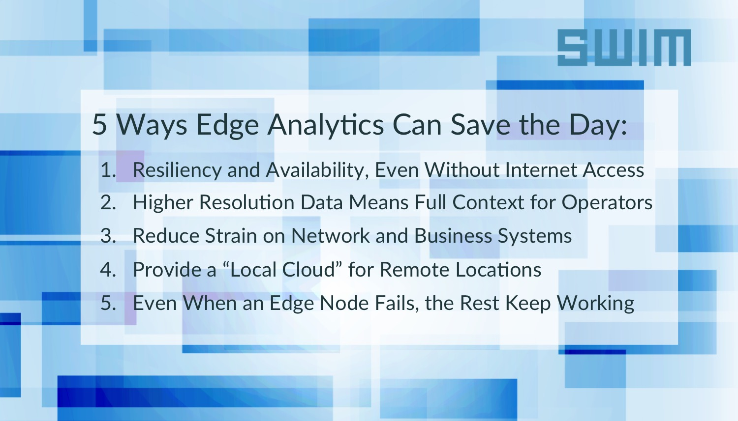 Five Ways Real-time Edge Analytics Can Save the Day | Swim Inc.